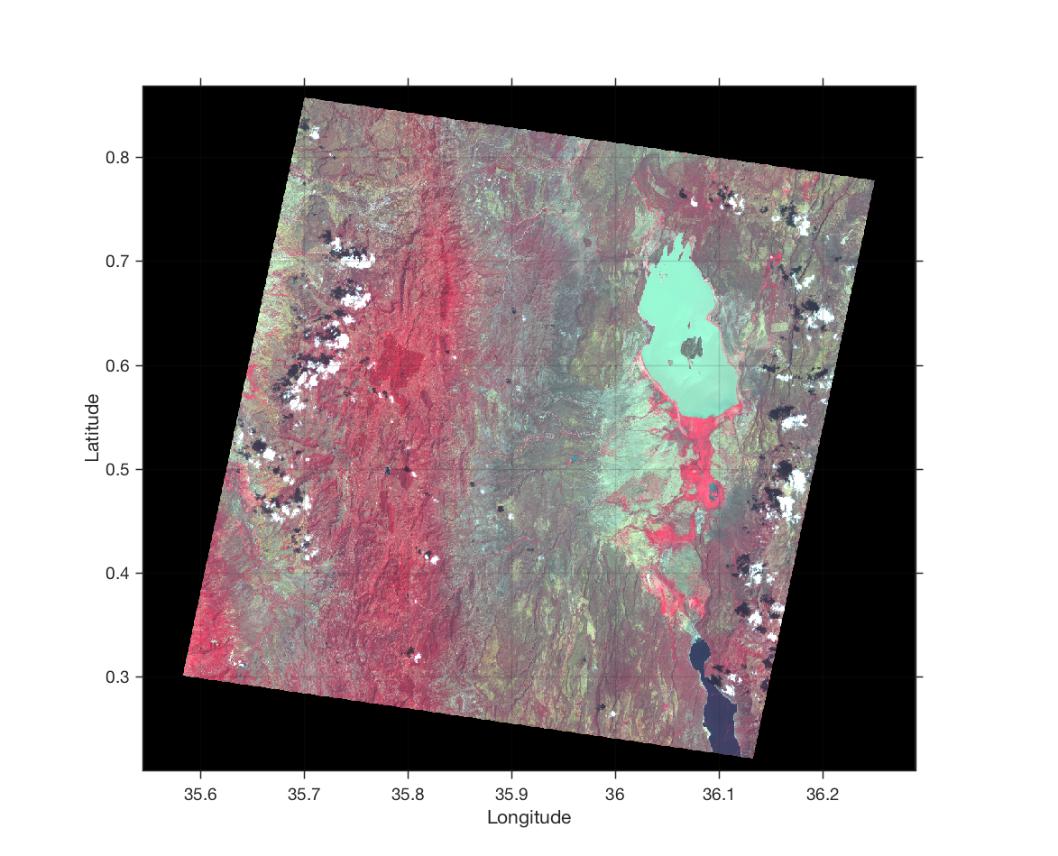 Importing and Georeferencing TERRA ASTER Images with MATLAB – MATLAB