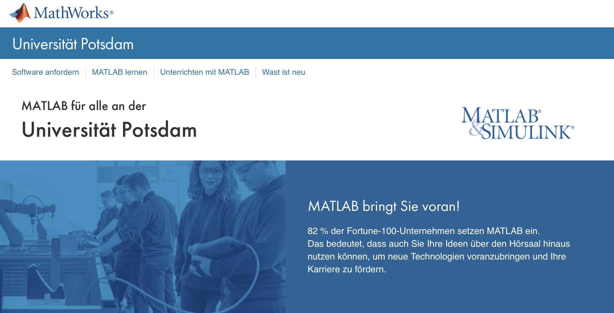 MATLAB/Simulink Total Academic Headcount License at U Potsdam